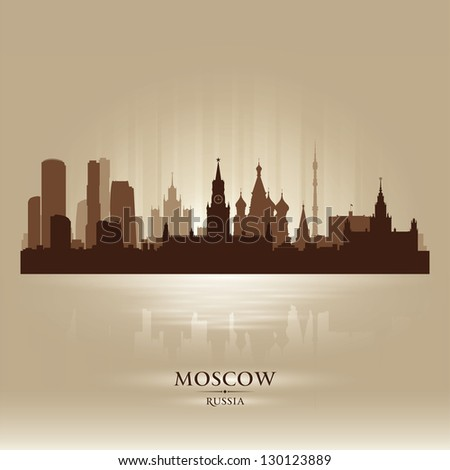moscow russia skyline city
