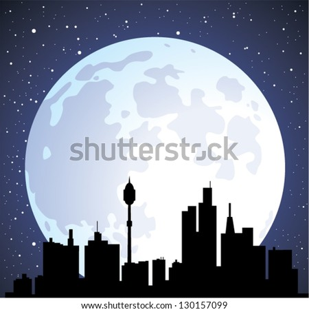 vector town background with
