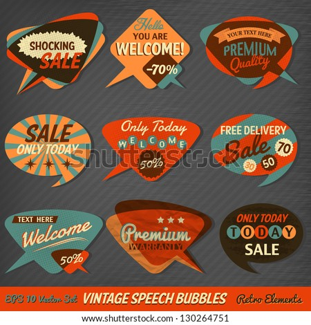 vintage style speech bubbles