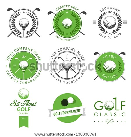 set of golf club logos  labels