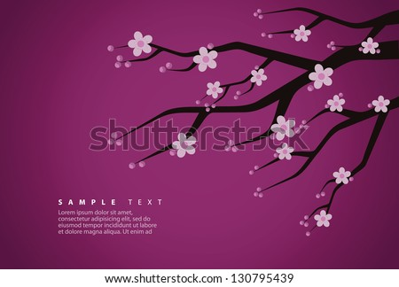 cherry blossom background eps