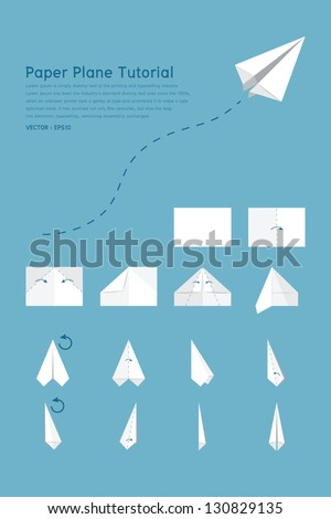 paper plane tutorial  vector