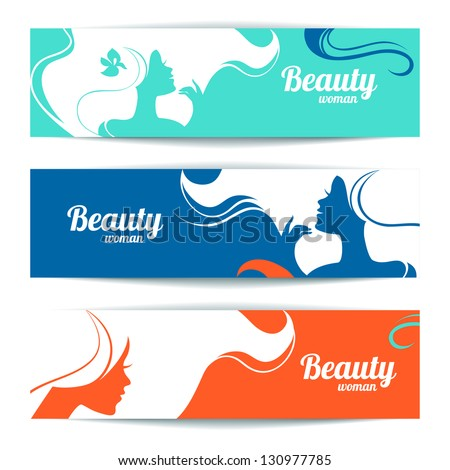 banners with stylish beautiful