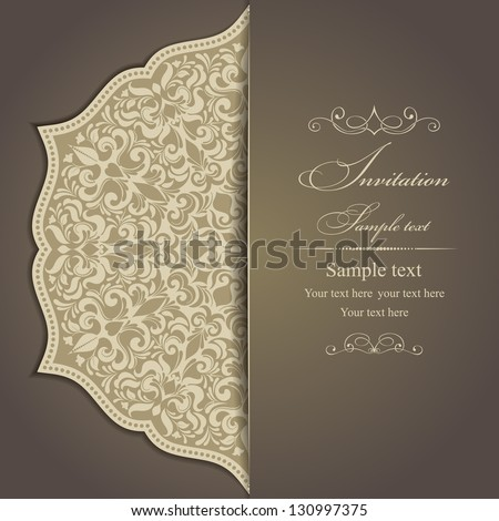 invitation card with flowers in