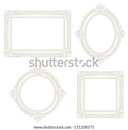 white antique frame