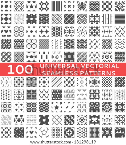 100 universal different vector