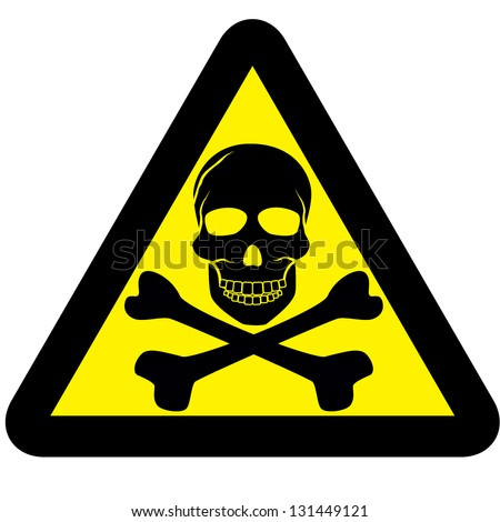 Electrical Warning Signs And Symbols Warning Sign With Skull Symbol