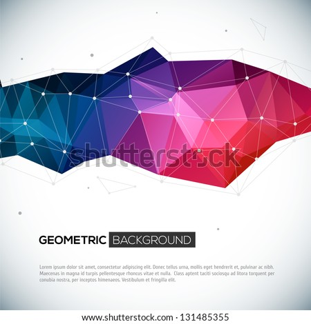 abstract 3d geometric colorful