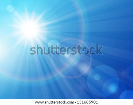 vector illustration sun in the