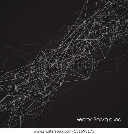 wireframe surface vector