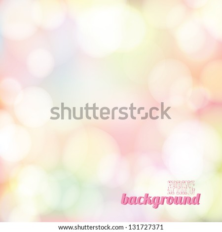 spring bokeh background vector