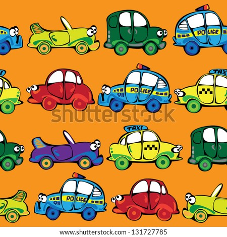 vector seamless multicolor cars