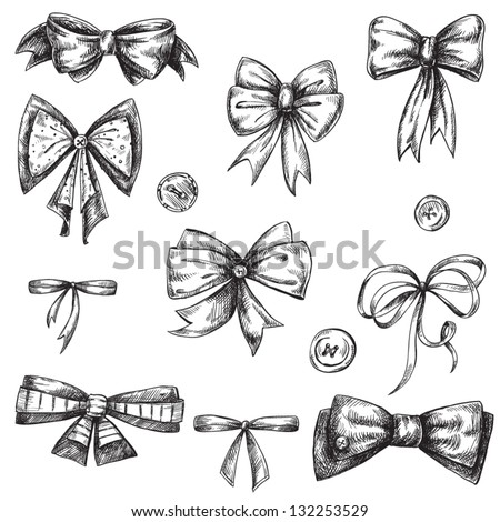 Cute Bow Tie Drawing Vector Images, ...