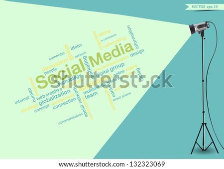 social media concept of word