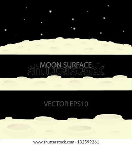 vector moon surface