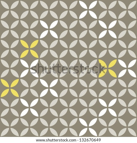 retro white beige yellow leaves