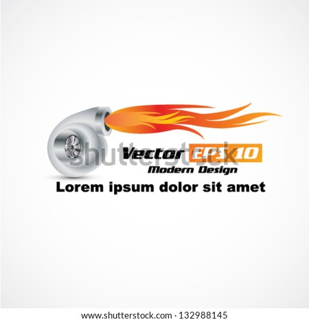 vector automobile turbocharger