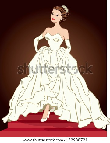 elegant woman in formal gown
