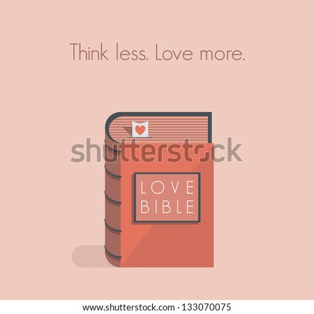 love bible with red heart