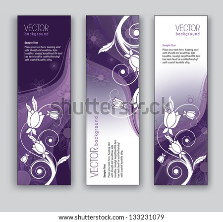 abstract floral banners vector