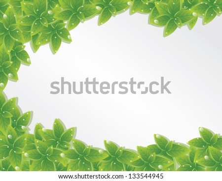 green leaves texture vector