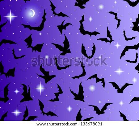 beautiful seamless with bats