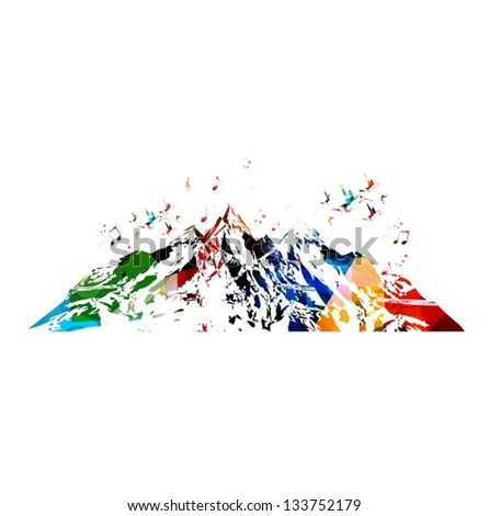 colorful vector mountains