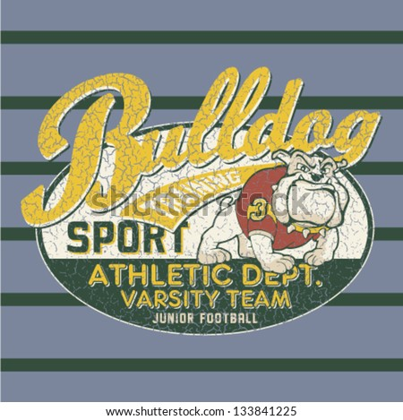 bulldog football team   artwork