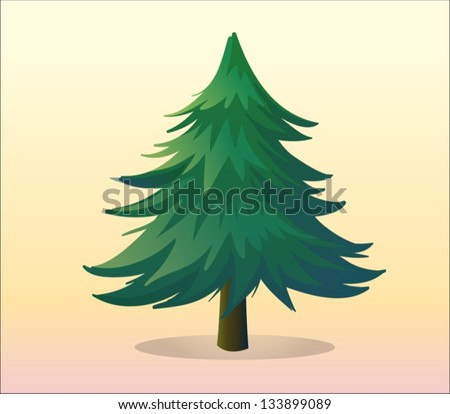 how to draw a pine tree in illustrator