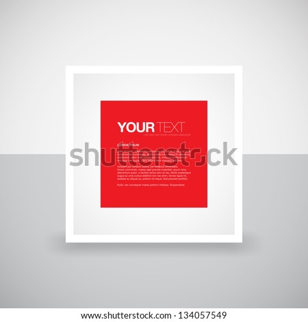 minimal abstract white red