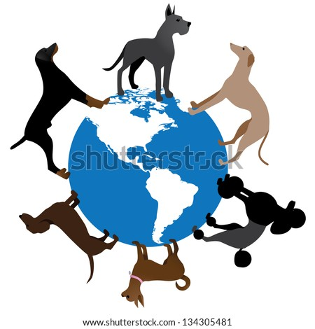 world of dogs color some