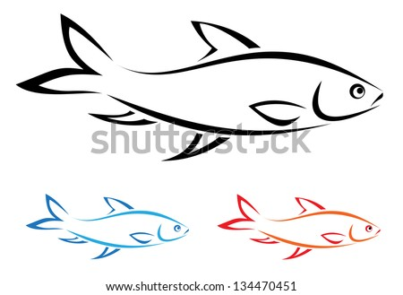 vector image of an fish on