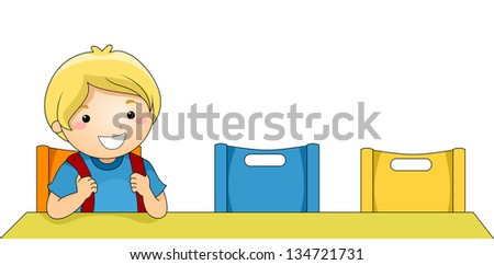 illustration of a boy being the