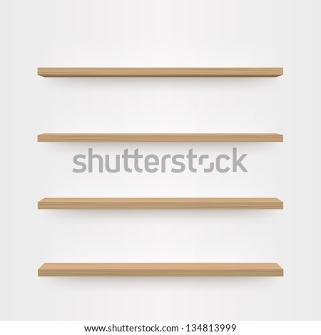 minimal 3d wood bookshelf