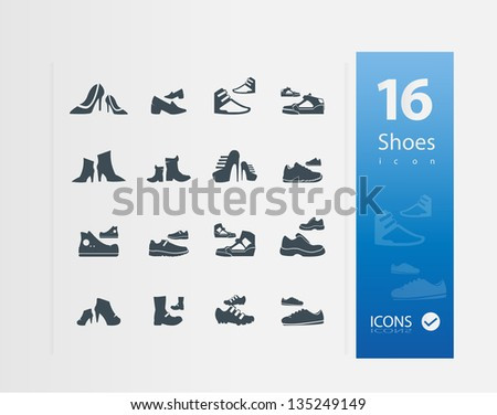 shoes icons   set of 16 quality