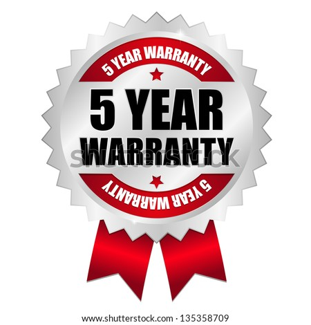 5 year warranty seal red