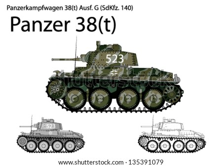ww2 german panzer 38 t  light
