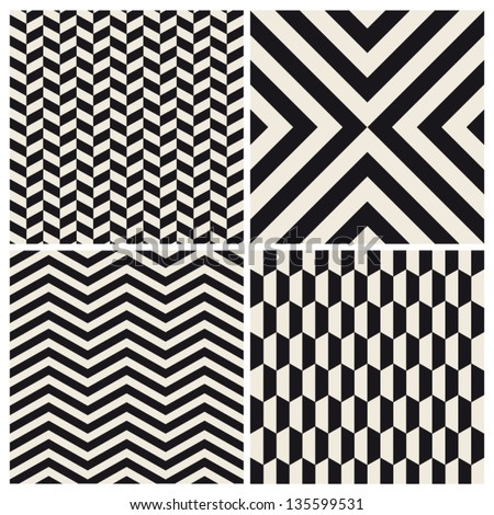seamless pattern background set