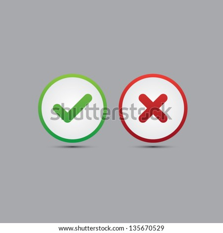 yes or no vector icons
