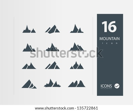 mountain icons  set of 16