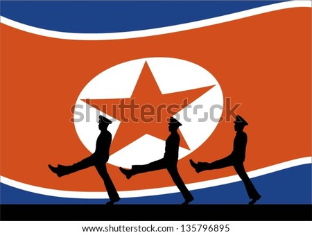 silhouette of north korean