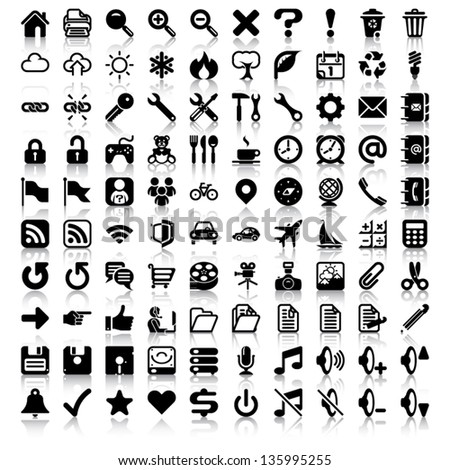 minimalist icon set   set of