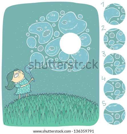 girl with soap bubbles visual