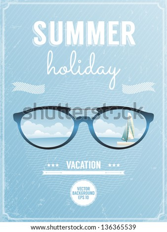 retro style poster for summer