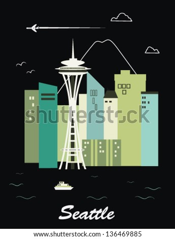 seattle city washingtonvector