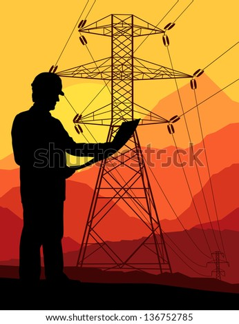 power high voltage tower with