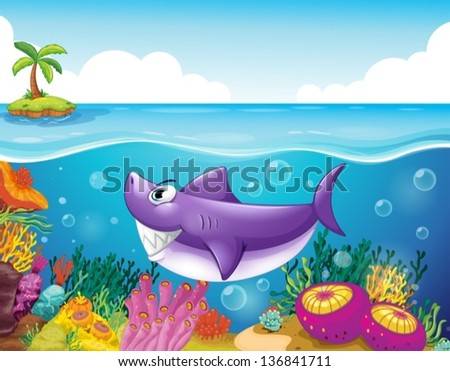 illustration of a smiling shark