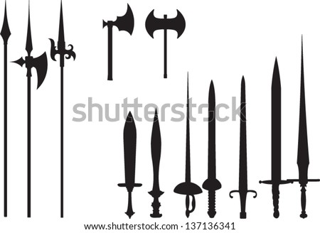 ancient weapons set  sword and