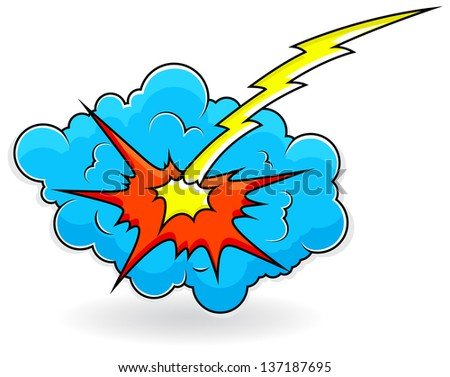 comic explosion cloud burst