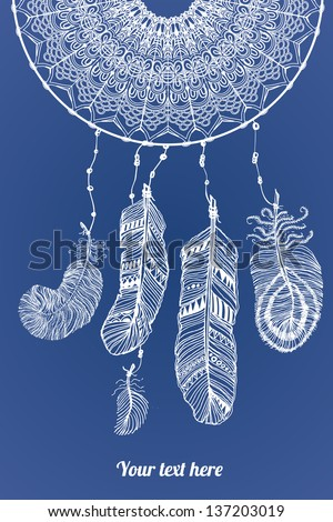 abstract dream catcher vector